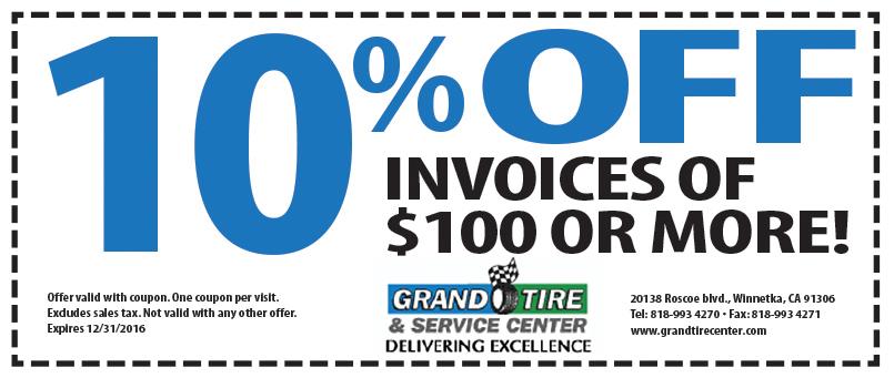 Grand Tire 10% off